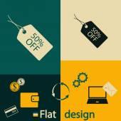 50 percent tag icon — Stock Vector