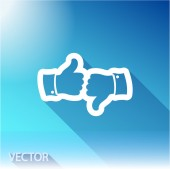 Like icon. Flat design style — Stock Vector