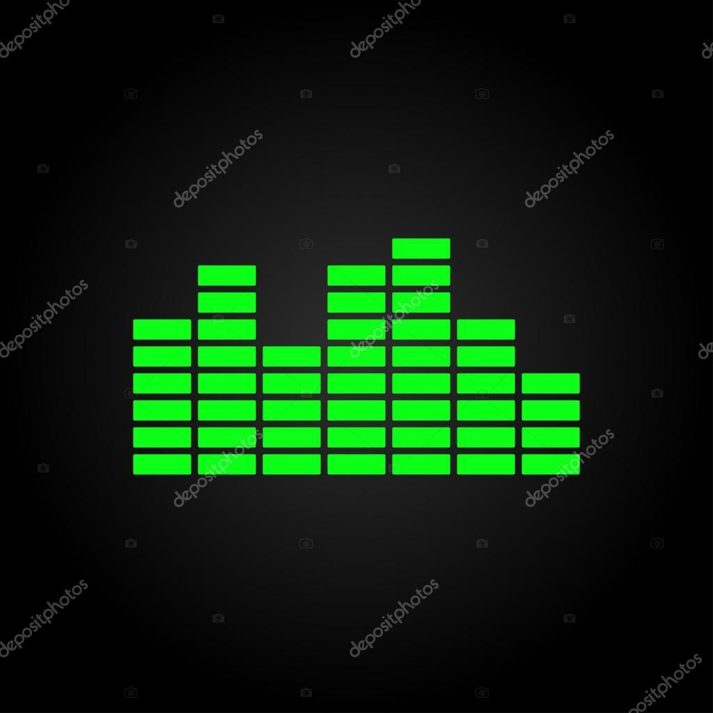 声波音乐图标 — 图库矢量图片
