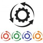 Gear icon set — Stock Vector #57208537