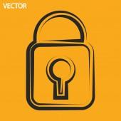 Icono de candado — Vector de stock