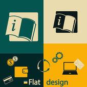 Opened book icon — Wektor stockowy