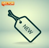 NEW tag icon — Stock vektor