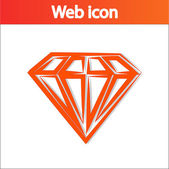 Icona di diamante — Vettoriale Stock