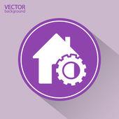 Ustawienie parametrów, dom ikona — Wektor stockowy