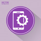 Setting parameters, mobile smartphone icon — Stock Vector