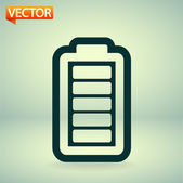 Battery load icon — Vettoriale Stock