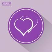 Icono del corazón. — Vector de stock