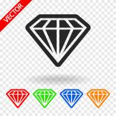 Diamond  icons set — Stock Vector