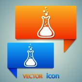 Laboratory glass icon — Stock Vector