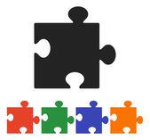 Rompecabezas pieza icono — Vector de stock