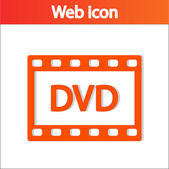 Icono de dvd — Vector de stock