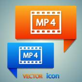 MP 4 video icon — Stock Vector