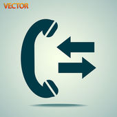 Incoming and outgoing calls sign icon — Vecteur