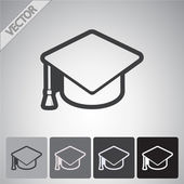 Graduation cap icon — Stock Vector