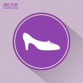 Women's shoes icon — Vetorial Stock