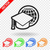 Internet training icon — Stock Vector