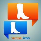 Womens shoe icon — Stock Vector