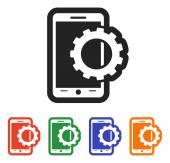 значок мобильного смартфона — Cтоковый вектор