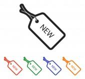 Nowa etykieta ikona — Wektor stockowy