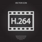 H.264 video icon — Vetorial Stock