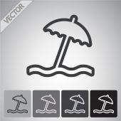 Regenschirm Icondesign — Stockvektor