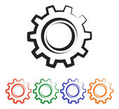 Gears icon — Stock Vector