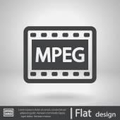 MPEG video icon — Stock Vector