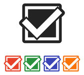 Confirm set icon — Stock Vector
