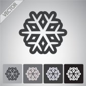 Snowflake flat icon — Stock Vector