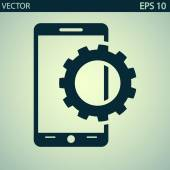 Setting parameters, mobile smartphone icon — ストックベクタ