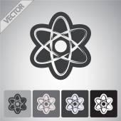Atom icon. flat design — Stock Vector
