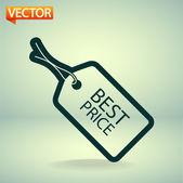 Best PRICE tag icon — Vector de stock