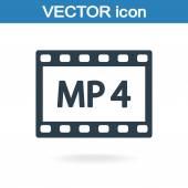 Mp 4 video simgesi — Stok Vektör