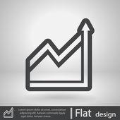 Chart icon — Stock Vector