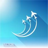 On sky background — Stock Vector