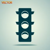 Traffic light icon illustration — Stock Vector