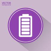 Battery load icon — Vettoriale Stock