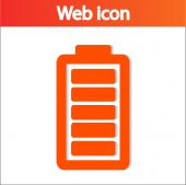 Battery load icon — Stockvector