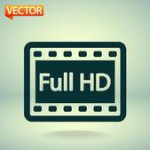 Plné hd video ikona — Stock vektor
