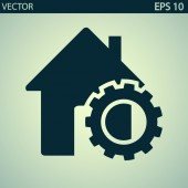 Setting parameters, house icon — Stock Vector