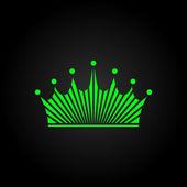 Kronan ikonen — Stockvektor