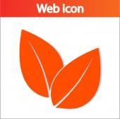 Leaf icon — Stock Vector