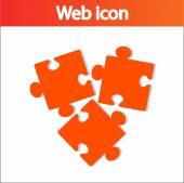 Puzzles piece icon — Stock Vector