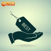 Tag icon design — Stock Vector
