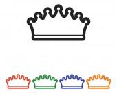 Korony ikona designu — Wektor stockowy