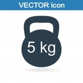 Dumb bells icon — Stock Vector