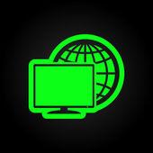 Monitor icon — Stock Vector