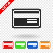 Bank credit card icon — Stock Vector