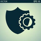 Установка параметров, символа щита — Cтоковый вектор